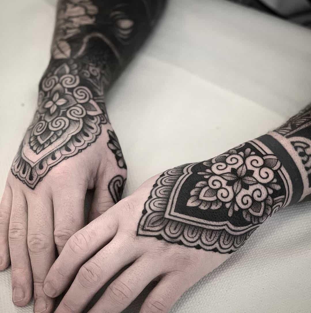 Ornamental tattoo design