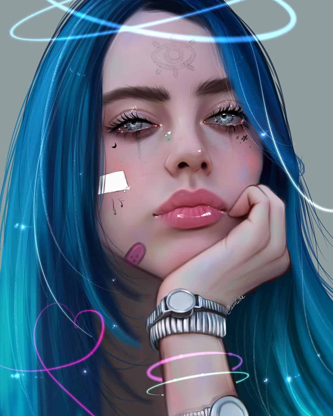 Digital artist Ruby Caurlette