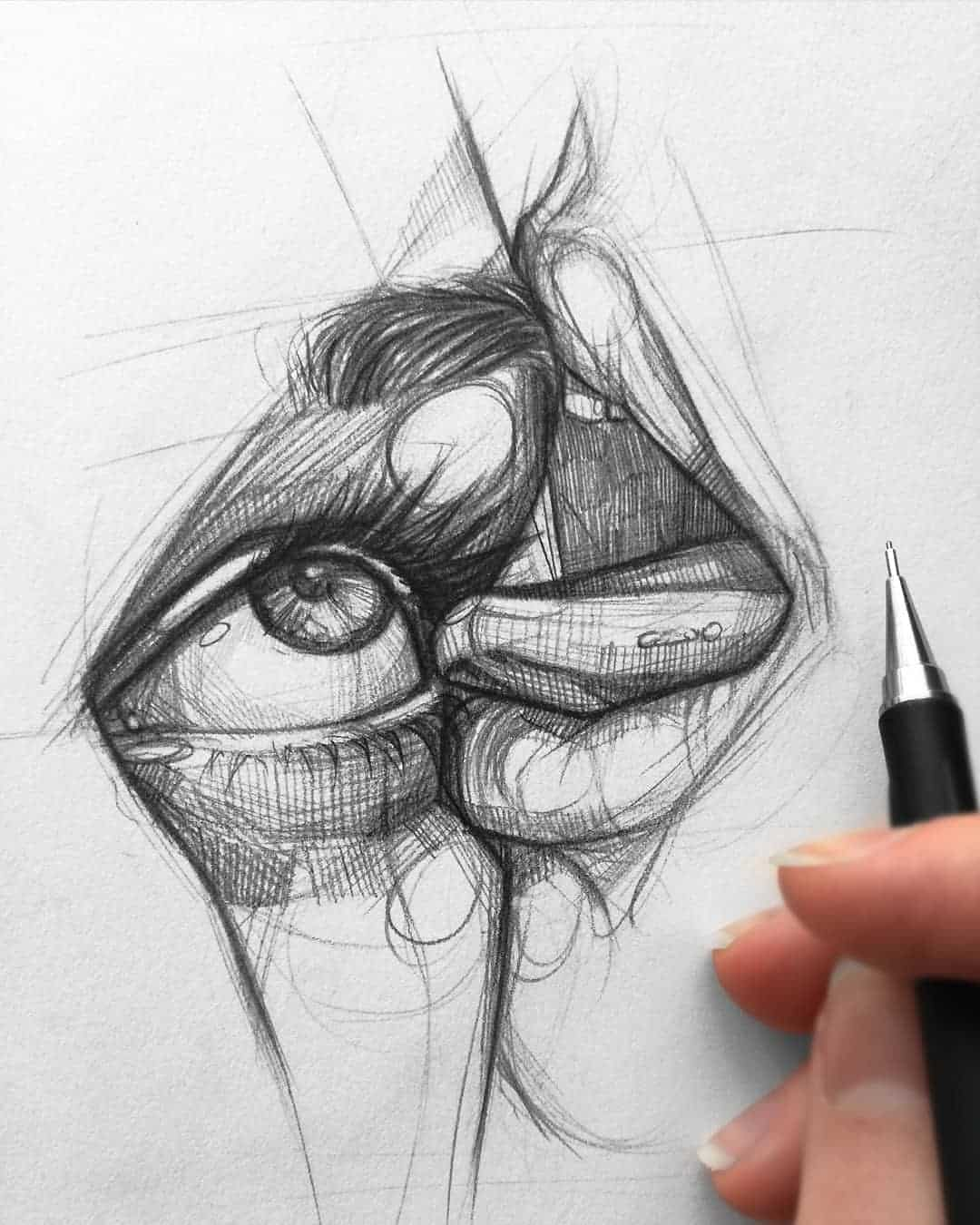 Pencil sketch artist Ani Cinski