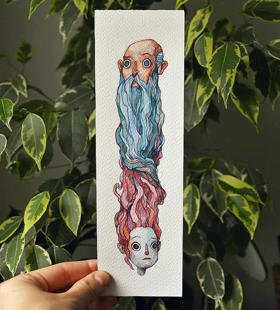 Watercolor artist Marija Tiurina